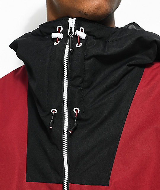 CLWR Block Burgundy & Black 10K Snowboard Jacket