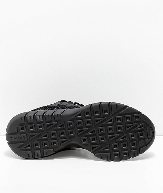 CU4TRO Bolt Black Smoke Knit Shoes
