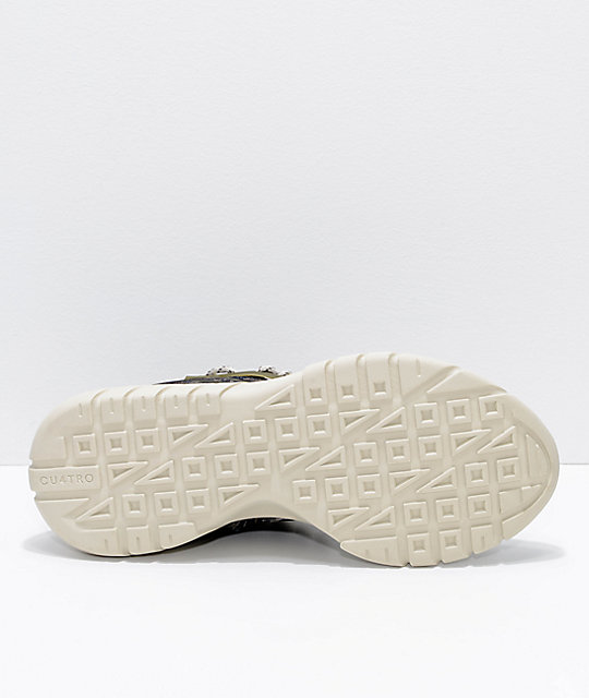 CU4TRO Bolt Grass & Bone Knit Shoes