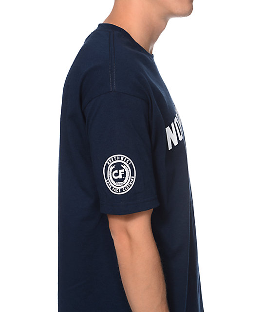 Cake Face College Navy T-Shirt