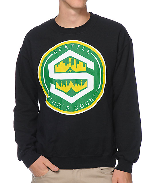 Cake Face Kings County Black Crew Neck Sweatshirt