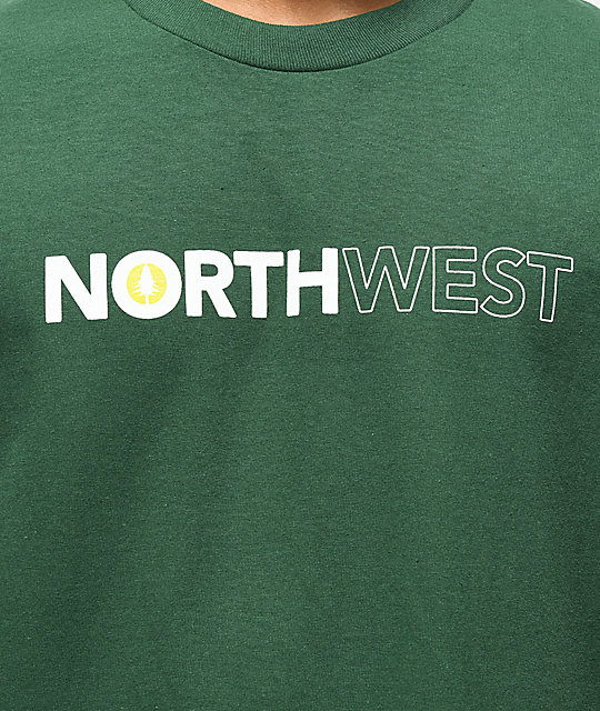 Cake Face PNW Bolt Northwest Green T-Shirt