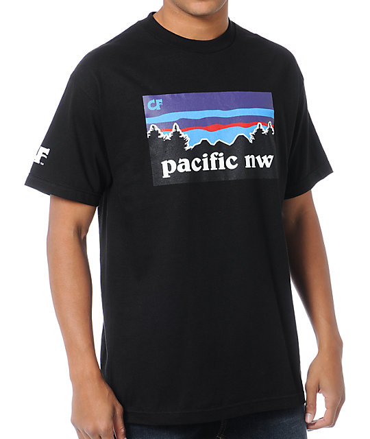 Cake Face Pacific NW Black T-Shirt