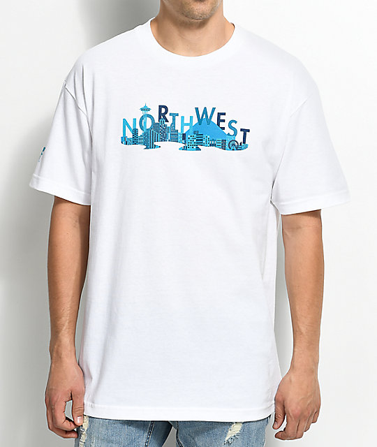 Cake Face Sea City Life camiseta blanca