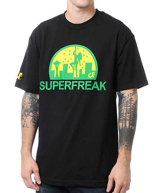 Cake Face Superfreak Black T-Shirt