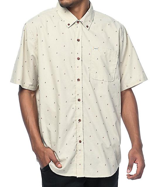 8f768dd36 Captain Fin Even Keel Grey Short Sleeve Button Up Shirt