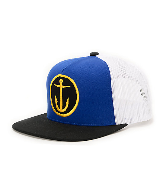 490c616e34c2e Captain Fin OG Anchor Blue Trucker Hat