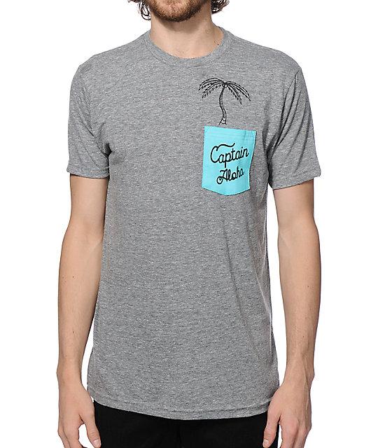 19e662118e0 Captain Fin Palm In Da Pocket T-Shirt | Zumiez