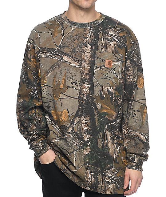 ec27ce6f4908 Carhartt Camo Long Sleeve T-Shirt | Zumiez