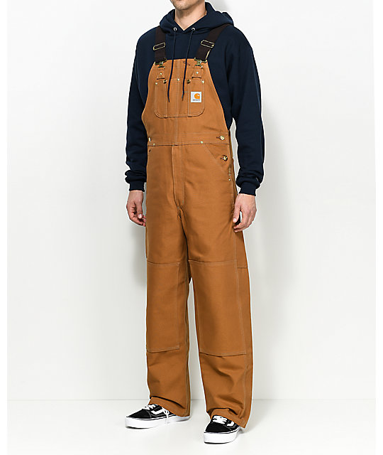 fast delivery the best hot-selling cheap Carhartt Duck Brown Bib Overalls