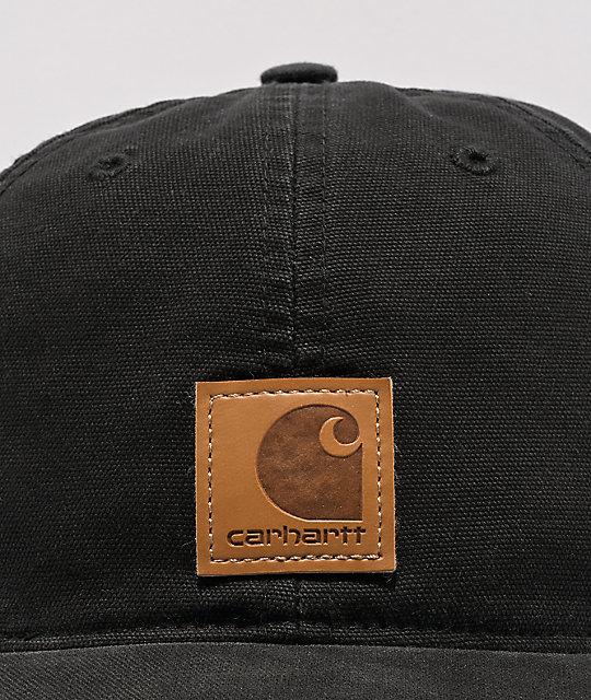 3fe51c0f11 Carhartt Odessa Black Strapback Hat | Zumiez
