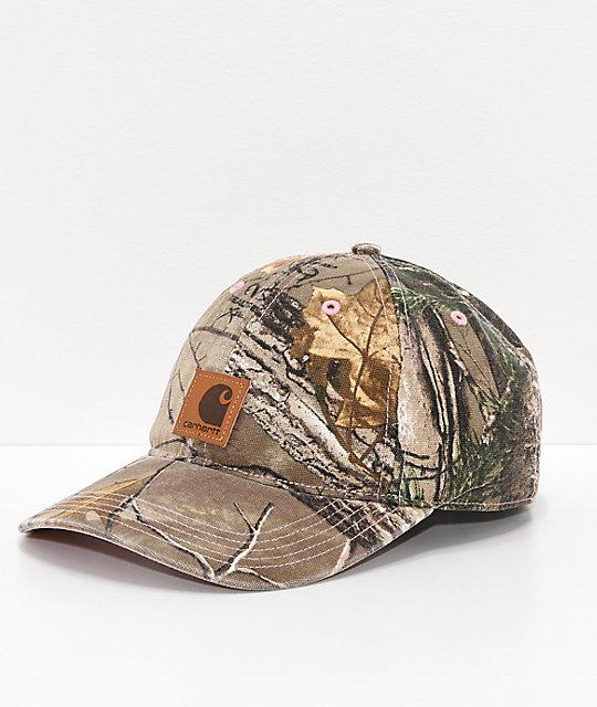 35f77a9b0b316 Carhartt Odessa Camo Strapback Hat