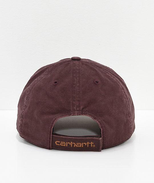 famous brand Carhartt Odessa Deep Wine Strapback Hat Zumiez 91606 f9747 ... e816deb66de6