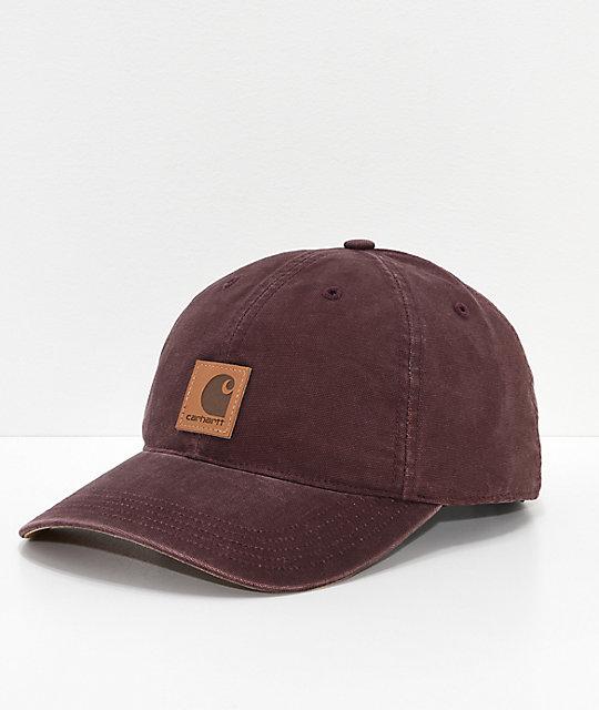 Carhartt Odessa Deep Wine Strapback Hat  371c97b8758