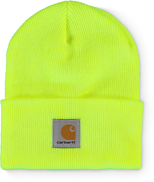 Carhartt Watch Bright Lime Beanie  444739aa2c5