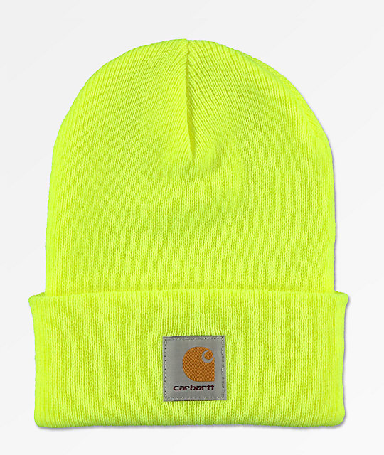 Carhartt Watch Bright Lime Cuff Beanie  2ecec5798a0