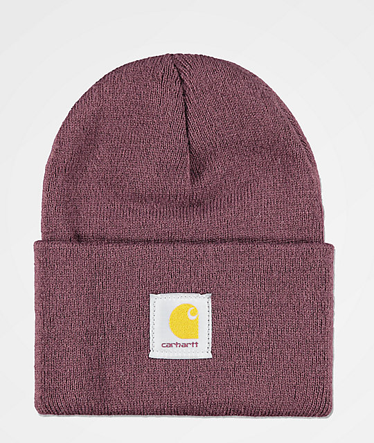 Carhartt Watch Deep Wine Fold Beanie