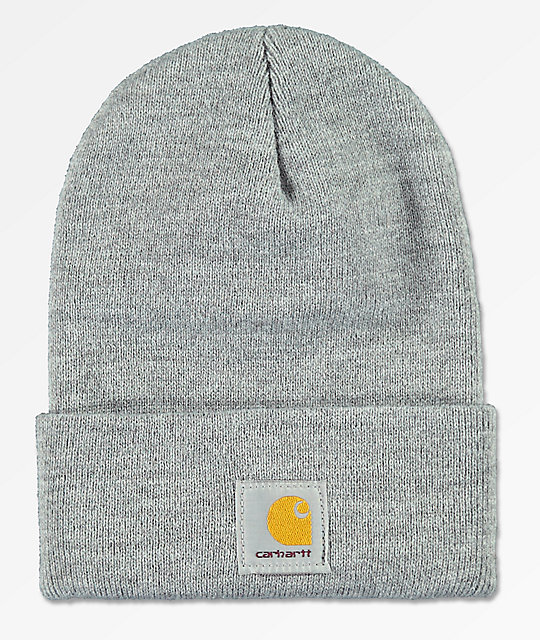 Carhartt Watch Heather Grey Beanie  f6d93bd24df