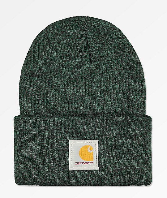 Carhartt Watch Hunter Green   Black Fold Beanie  edecc482b0d