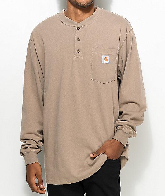 dfa81a34 Carhartt Workwear Desert Long Sleeve Henley T-Shirt | Zumiez