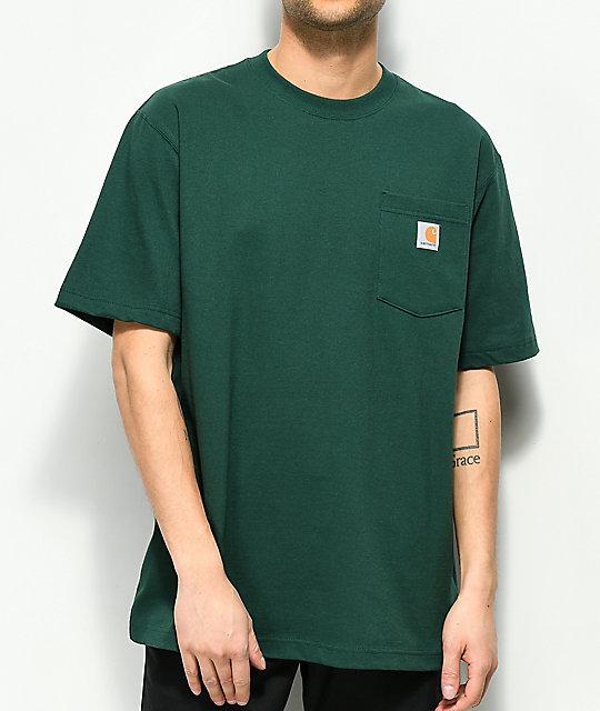 Carhartt Workwear Hunter Green Pocket T Shirt Zumiez