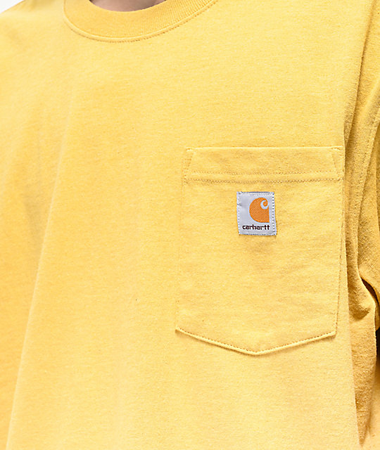 Carhartt Workwear Yellow Pocket T-Shirt