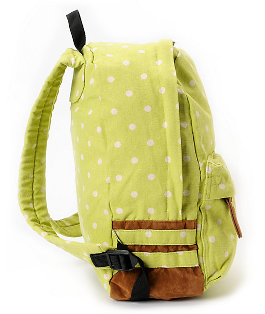 Carrot Company Dot Print Light Green Backpack
