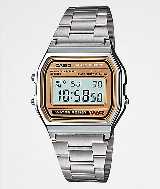 e18a8dfa87c Casio A158 Vintage Silver Digital Watch
