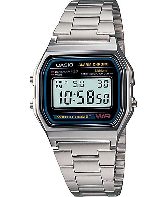 Casio A158W-1 Vintage Silver Watch