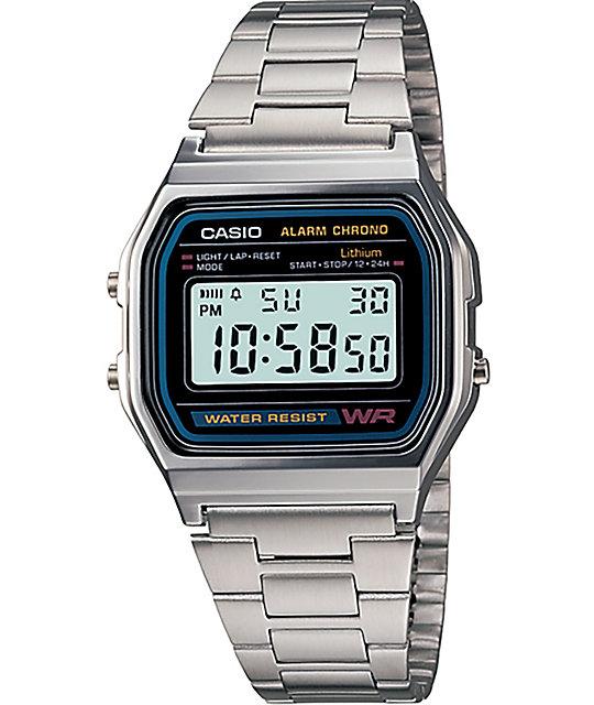 3a514146b Casio A158W-1 Vintage Silver Watch | Zumiez.ca