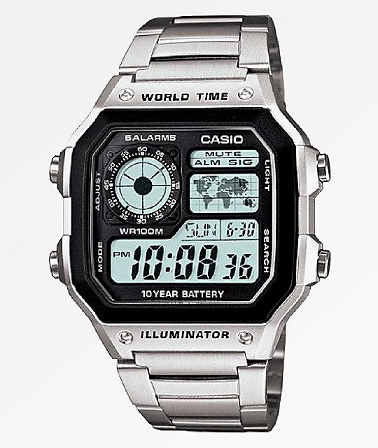 Casio AE1200 Vintage Silver Digital Watch  8453437cdd5