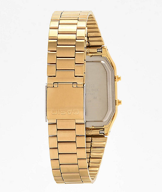 Casio AQ-230 Vintage Gold Watch