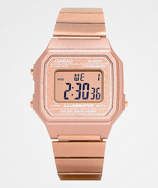 Casio B650WC-5AVT Vintage reloj digital en color oro rosa