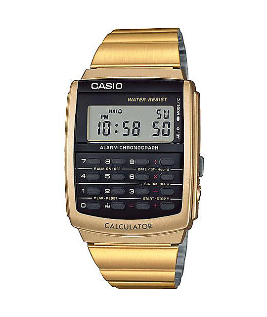 Casio CA506G-9AVT Databank Gold Calculator Watch