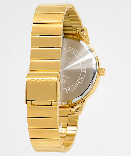 Casio Vintage All Gold Analog Watch
