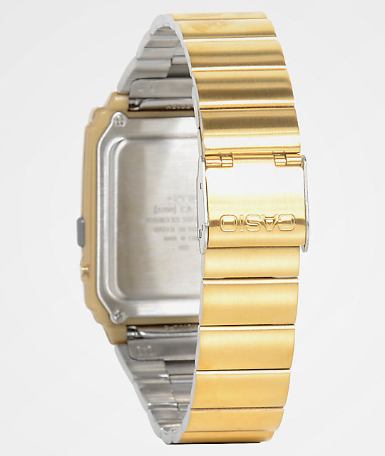 Casio Vintage Calculator Gold Watch