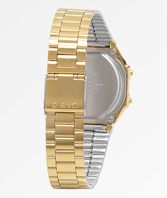 Casio Vintage Diamond Face reloj digital en color oro
