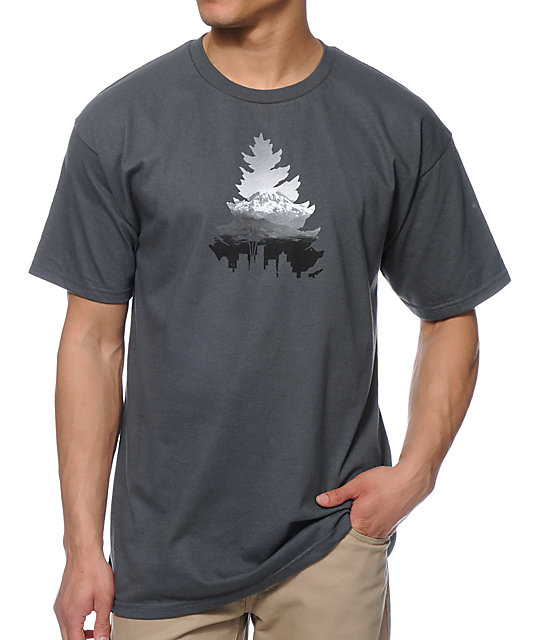 Casual Industree Johnny Tree Rainier Charcoal T-Shirt