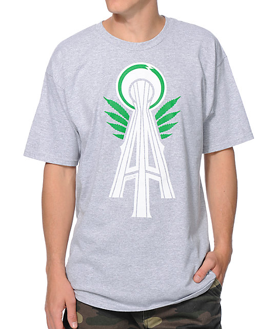 Casual Industrees Alpha Space Needle Grey T-Shirt