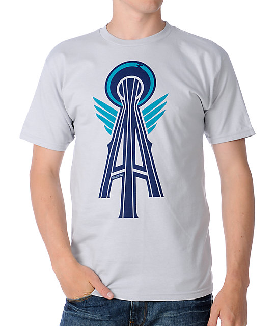 Casual Industrees Alpha Space Needle Silver T-Shirt