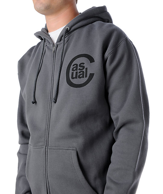 Casual Industrees Anchor Charcoal Hoodie