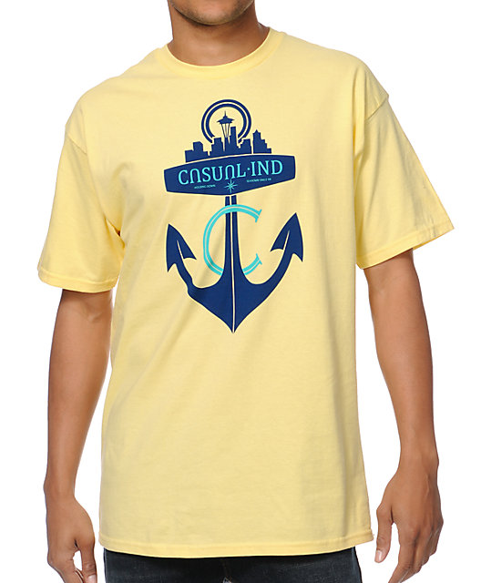 Casual Industrees Anchor Yellow T-Shirt