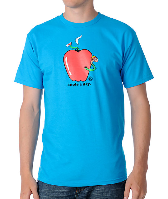 Casual Industrees Apple A Day Turquoise T-Shirt