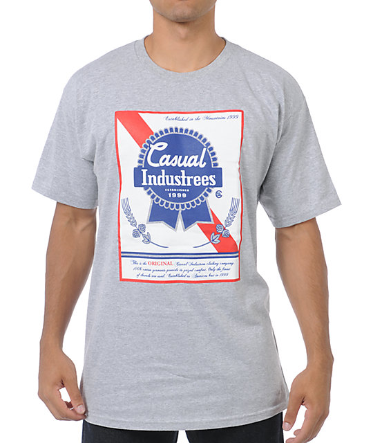 Casual Industrees Broke Ribbon Grey T-Shirt