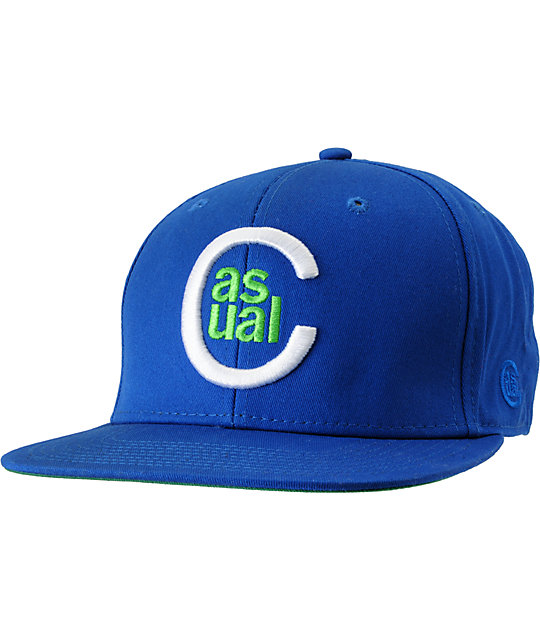 Casual Industrees C Logo Blue Snapback Hat