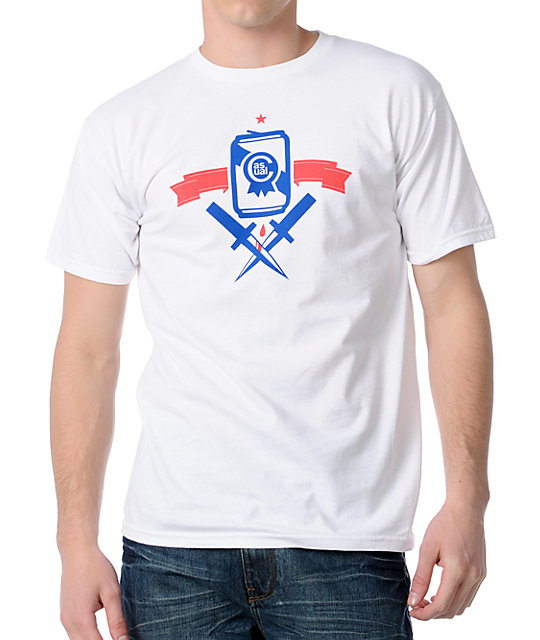 Casual Industrees Dagger Crew White t-shirt