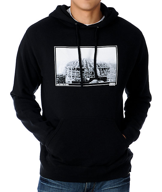 Casual Industrees Dome To Dust Black Pullover Hoodie