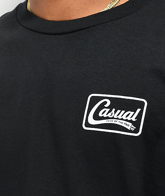 Casual Industrees Down Since 99 camiseta negra