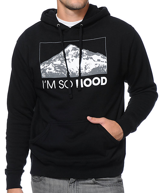 sports shoes 6e12d 9848d Casual Industrees Im So Hood Black Pullover Hoodie