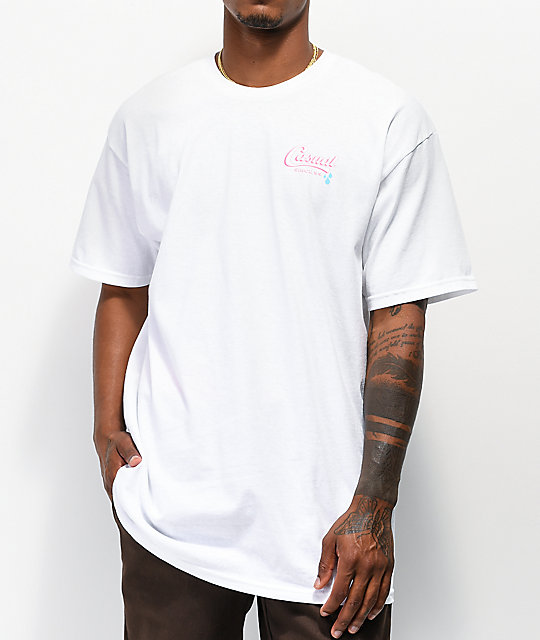 Casual Industrees Keepin It Clean camiseta blanca